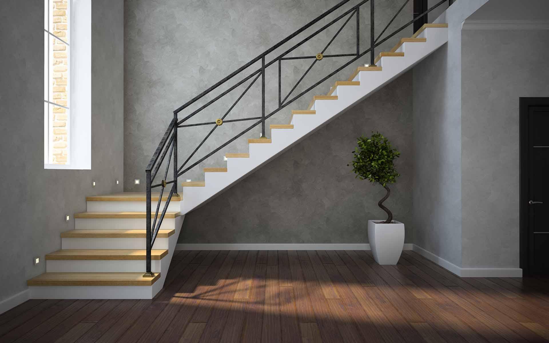 comment calculer escalier quart tournant